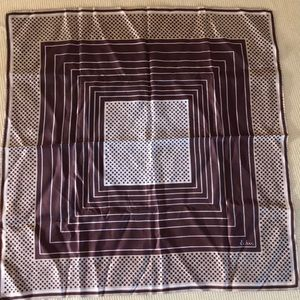 Eco designer ladies vintage silk geometric scarf